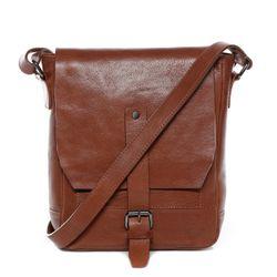 FEYNSINN messenger bag JACKSON ipad shoulder bag S brown Smooth Leather cross-body bag  3