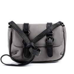 SID & VAIN shoulder bag LEEDS -904- handbag WASHED leather - grey