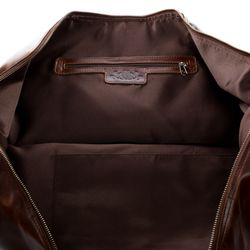 SID & VAIN travel bag carry-all  CHESTER  weekender duffel bag XL brown Natural Leather overnight duffle bag hold-all  4