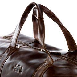 SID & VAIN XL Reisetasche CHESTER Natur-Leder braun-cognac Sporttasche groß Reisetasche 3