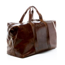 SID & VAIN travel bag carry-all  CHESTER  weekender duffel bag XL brown Natural Leather overnight duffle bag hold-all  2