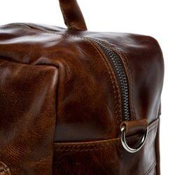 SID & VAIN Laptoptasche BRIGHTON Natur-Leder braun-cognac Businesstasche Laptoptasche 4