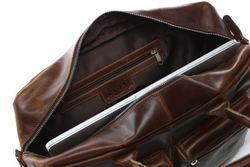 SID & VAIN Laptoptasche Natur-Leder braun-cognac Businesstasche Laptoptasche 3