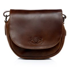 SID & VAIN shoulder bag BRIGHTON -914- handbag PULL-UP leather - brown-cognac
