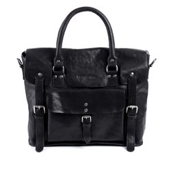 FEYNSINN laptop bag PHOENIX -7AM-R001- business bag VT-ANALIN leather - black