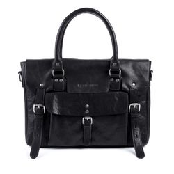 FEYNSINN laptop bag PHOENIX -7AM-R002- business bag VT-ANALIN leather - black