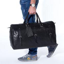 FEYNSINN XL Reisetasche PHOENIX Premium Smooth schwarz Sporttasche groß Reisetasche 6