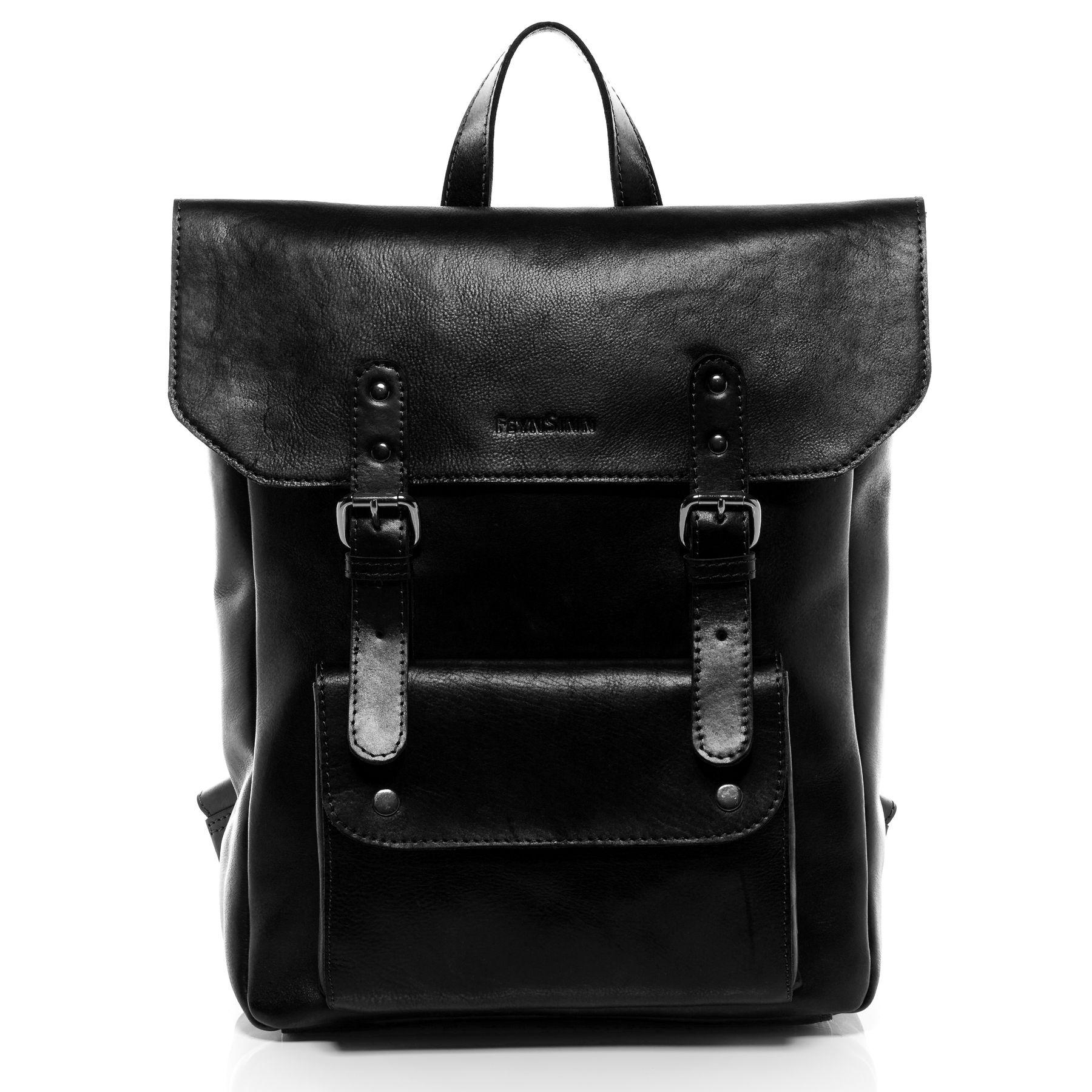12c9527309 FEYNSINN sac à dos mince cuir noir sacs portés dos backpack ville voyage  scolaire Sacs Sacs homme