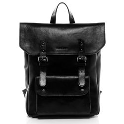 FEYNSINN backpack slim PHOENIX -7AM-R004- daybag VT-ANALIN leather - black