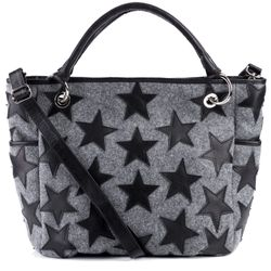 FEYNSINN tote bag & shoulder bag STARS  handbag L grey Smooth Leather purse
