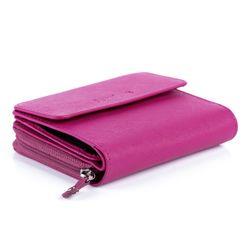 FEYNSINN Portemonnaie LIZ - Leder Geldbeutel pink