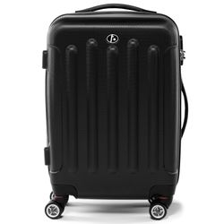FERGÉ carry-on trolley LYON -XB-02-20- suitcase hard-top case ABS - black