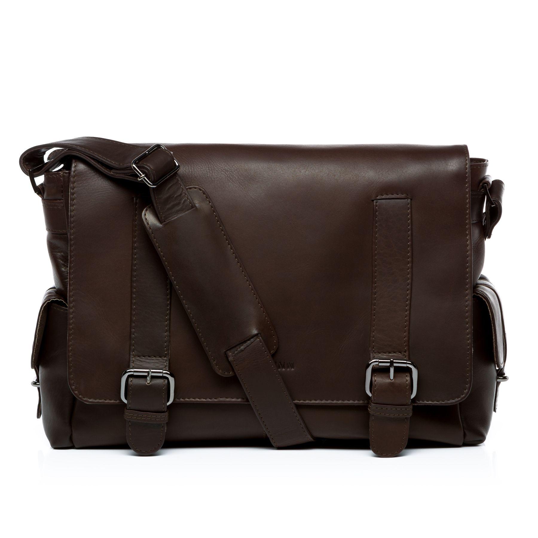 9eddb12bcd5 FEYNSINN shoulder bag ASHTON - M - brown courier cross-body bag - premium  handmade genuine leather messenger bag men Business
