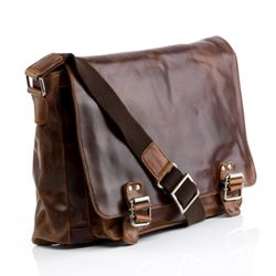 STOKED Messenger bag Natur-Leder braun-cognac Laptoptasche Messenger bag 2