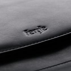 FERGÉ Aktenmappe DIN A4 TODD Premium Smooth schwarz Schreibmappe Aktenmappe DIN A4 4