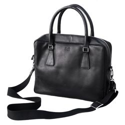 FERGÉ Laptoptasche ACE Premium Smooth schwarz Businesstasche Laptoptasche 5