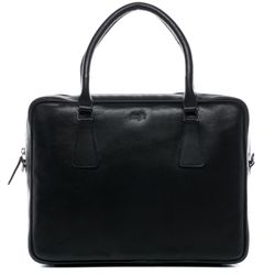 FERGÉ laptop bag ACE -1011- business bag SMOOTH leather - black