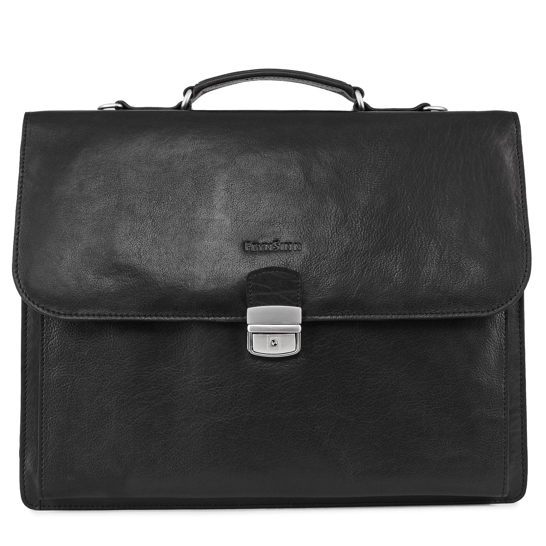 691e874162 Feynsinn briefcase emilio office work bag black smooth leather portable  computer briefcase shoulder strap business jpg