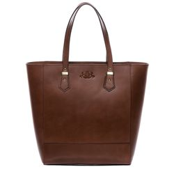 SID & VAIN sac porté épaule TRISH cabas Shopper avec sangle grand en cuir marron