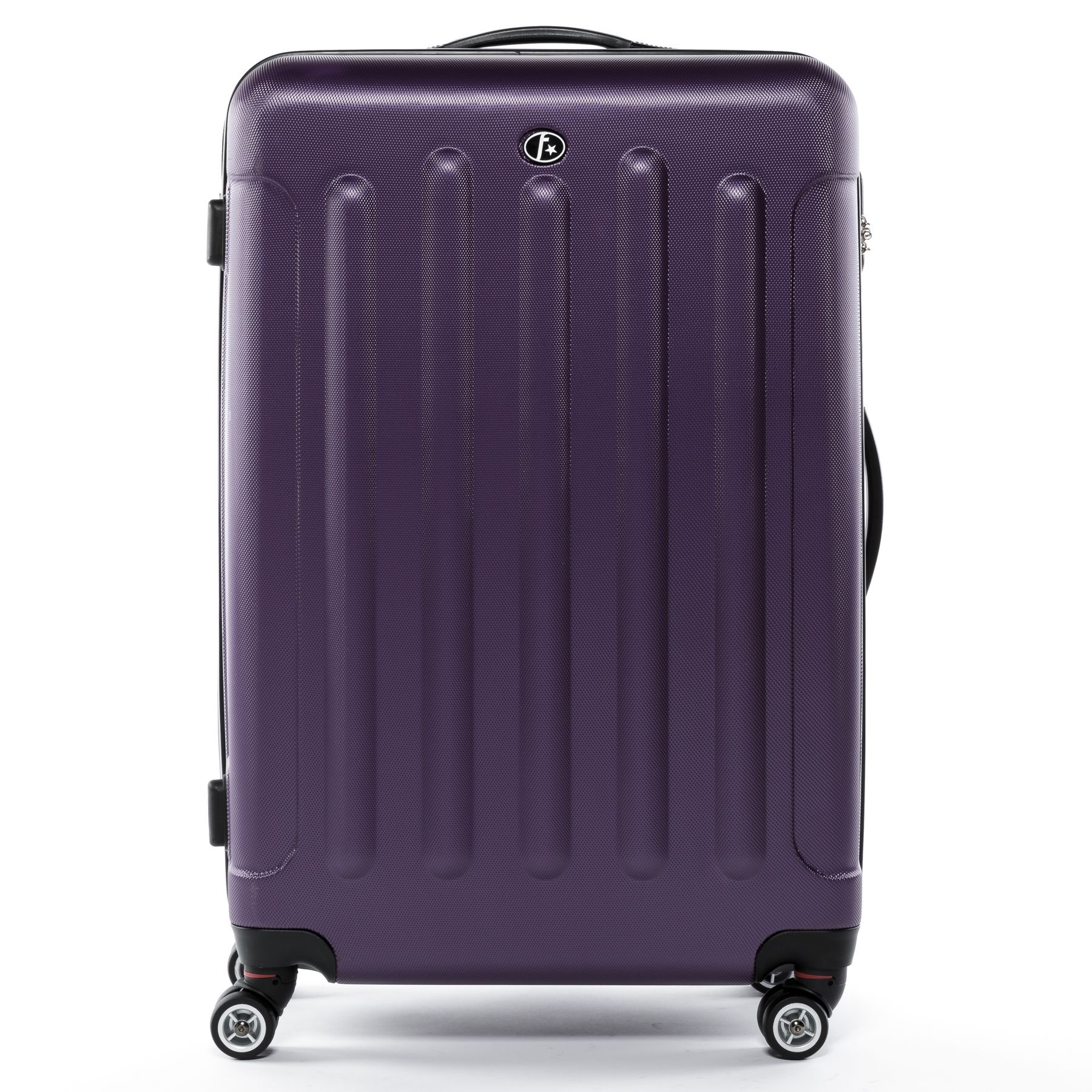 9748630d70a3 FERGÉ luggage set 3 piece ABS LYON purple hard shell travel trolley ...