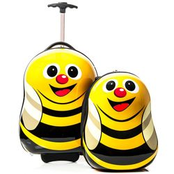 FERGÉ 1x children-trolley and 1x backpack Bee -XB-10-01 – Bee- children suitcase ABS&PC - Bee