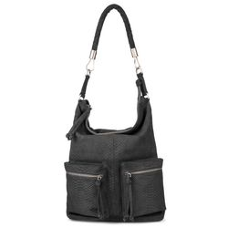 BACCINI hobo bag SOFIA -K-10-6490- shoulder bag Anaconda leather - ana-black