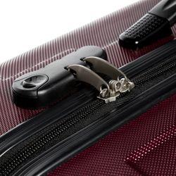FERGÉ Kofferset 3-teilig Hartschale Burgundrot 3er Hartschalenkoffer Trolley-Set 4 Zwillings-Rollen 360° Kofferset 3-teilig Hartschale 9
