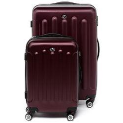 FERGÉ Kofferset 3-teilig LYON Trolley-Koffer Hartschale leicht 3 Größen ABS Dure-Flex Koffer-Set Leicht 3er Hartschalenkoffer Set (M L XL ) 4 Zwillingsrollen (360°) 3