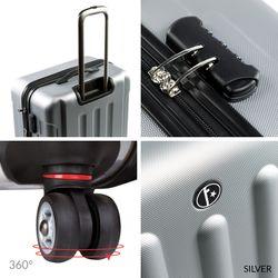 FERGÉ Kofferset 3-teilig Hartschale Burgundrot 3er Hartschalenkoffer Trolley-Set 4 Zwillings-Rollen 360° Kofferset 3-teilig Hartschale 5