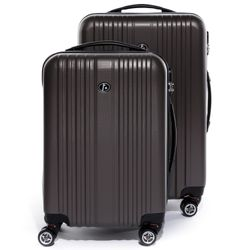 FERGÉ Kofferset 3-teilig TOULOUSE Trolley-Koffer Hartschale leicht 3 Größen ABS Dure-Flex Koffer-Set Leicht 3er Hartschalenkoffer Set (M L XL ) 4 Zwillingsrollen (360°) 4
