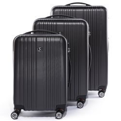 FERGÉ 3 suitcases hard-top cases TOULOUSE -XB-07- trolley set ABS - anthracite