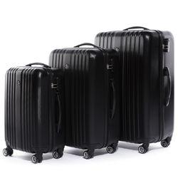 FERGÉ Kofferset 3-teilig TOULOUSE Trolley-Koffer Hartschale leicht 3 Größen ABS Dure-Flex Koffer-Set Leicht 3er Hartschalenkoffer Set (M L XL ) 4 Zwillingsrollen (360°) 2