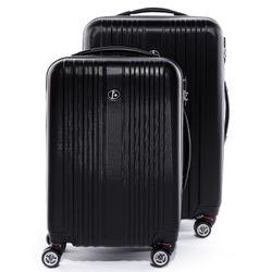 FERGÉ Kofferset 3-teilig TOULOUSE Trolley-Koffer Hartschale leicht 3 Größen ABS Dure-Flex Koffer-Set Leicht 3er Hartschalenkoffer Set (M L XL ) 4 Zwillingsrollen (360°) 3