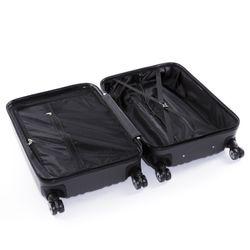 FERGÉ Kofferset 3-teilig TOULOUSE Trolley-Koffer Hartschale leicht 3 Größen ABS Dure-Flex Koffer-Set Leicht 3er Hartschalenkoffer Set (M L XL ) 4 Zwillingsrollen (360°) 11