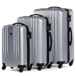FERGÉ Kofferset 3-teilig Marseille Trolley-Koffer Hartschale leicht 3 Größen ABS Dure-Flex Koffer-Set Leicht 3er Hartschalenkoffer Set 4 Komfortrollen (360°) 3