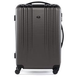 FERGÉ 3er Kofferset Marseille ABS Dure-Flex anthrazit 3er Hartschalenkoffer Roll-Koffer 4 Rollen Kofferset Hartschale 3-teilig 3