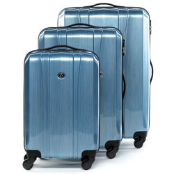 luggage set 3 piece Dijon Polycarbonate