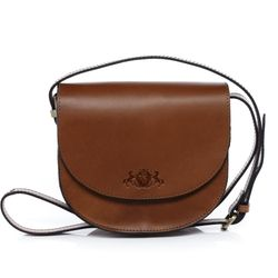 SID & VAIN shoulder bag TRISH -923- handbag SADDLE leather - tan-cognac