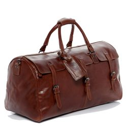 FEYNSINN travel bag PHOENIX -7AM-R003- weekender VT-ANALIN leather - tan-cognac