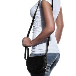 SID & VAIN Umhängetasche BRIGHTON Premium Smooth schwarz Crossbody bag Umhängetasche 5