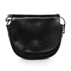 SID & VAIN cross-body bag BRIGHTON  messenger S black Smooth Leather shoulder bag