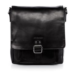 STOKED Leer Messenger bag zwart Messenger bag NATHAN