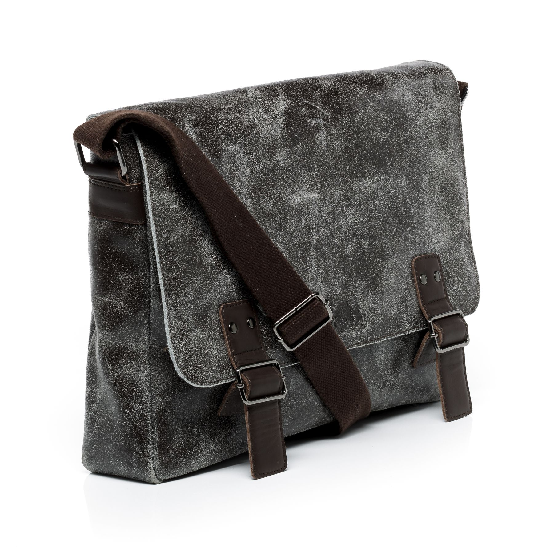 549dcb046c SID   VAIN messenger bag Distressed Leather HARVEY brown laptop ...