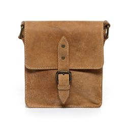 SID & VAIN cross-body bag HARRY -1214- leather bag with shoulder strap MAN-HUNTER leather - light-tan