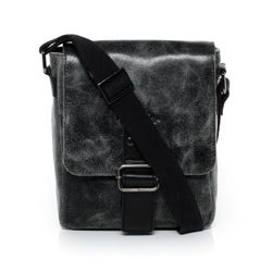 SID & VAIN messenger bag HARVEY -1223- shoulder bag SPLITT DISTRESS leather - black