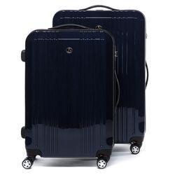 FERGÉ Kofferset 3-teilig Hartschale dunkelblau-metallic 3er Hartschalenkoffer Trolley-Set 4 Zwillings-Rollen 360° Kofferset 3-teilig Hartschale 10
