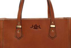 top-handle tote bag TRISH Saddle Leather 3