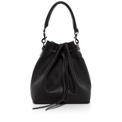 drawstring bucket bag NIK Smooth Leather