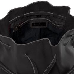 FEYNSINN Beuteltasche NIK Premium Smooth schwarz Hobo Bag Schnürbeutel 3
