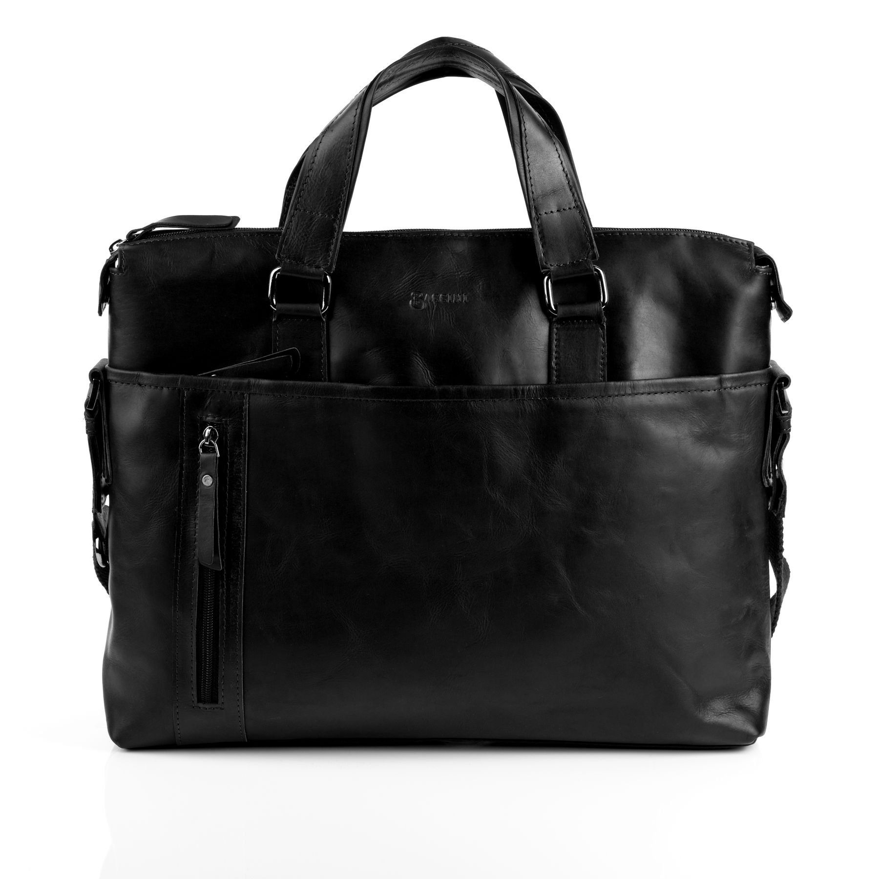 Cuir En Sacoche Portable Noir Baccini Document Sac Ordinateur Porte TkPiwXOZu